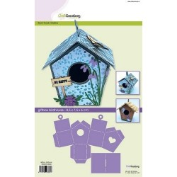 (185070/4001)CraftEmotions stencil giftbox - birdhouse