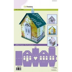 (185070/4002)CraftEmotions stencil- giftbox house