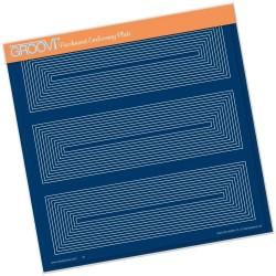 (GRO-PA-40904-15)Groovi Plate A4 FRAMEWORK RECTANGLES