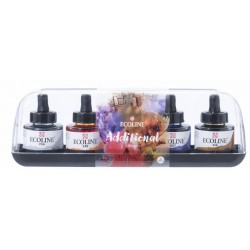 (11259901)Talens Ecoline Liquid Watercolour Set Additional 5x30ml