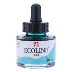 (11256611)Talens Ecoline Liquid Watercolour 30ml 661 Turquoise Green