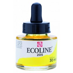 (11252051)Talens Ecoline Liquid Watercolour 30ml 205 Lemon Yellow