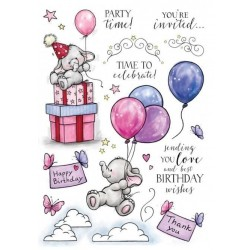 (AS007)Wild Rose Studio`s A5 stamp set Bella`s Party 2