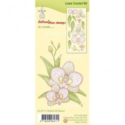 (55.4711)Clear stamp Orchid 3D Flower