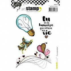 (SA60349)Carabelle cling stamp A6 tu es ma lumiere