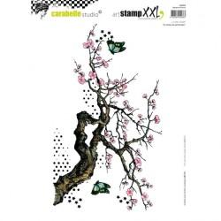 (SA40028)Carabelle cling stamp XXL le retour du printemps