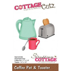 (CC-429)Scrapping Cottage Coffee Pot & Toaster