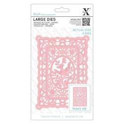 (XCU504096)Xcut Large Dies (2pcs) - Lace Frame