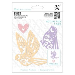 (XCU504075)Xcut Dies (3pcs) - Patterned Birds