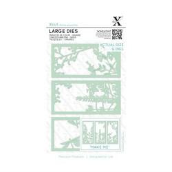 (XCU503097)Xcut Large Dies (6pcs) - Floral Panels