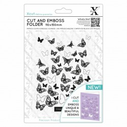 (XCU503824)Xcut 110 x 150mm Cut & Emboss Folder - Butterflies