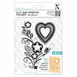 (XCU503823)Xcut 110 x 150mm Cut & Emboss Folder - Folk Heart