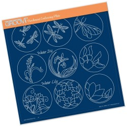 (GRO-PA-40991-15)Groovi Plate A4 LINDA WILLIAMS 123 SAMPLER - DRAGONFLY