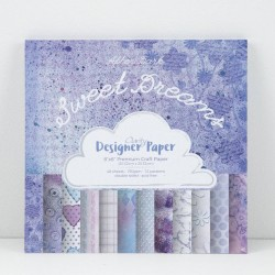 (ACC-CA-30442-88)GROOVI Design Paper Pack 8x8 Sweet Dreams