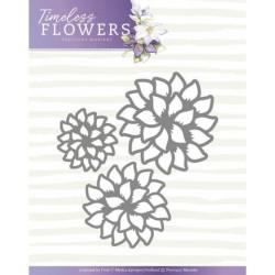 (PM10122)Dies - Precious Marieke - Timeless Flowers - Dahlia Trio