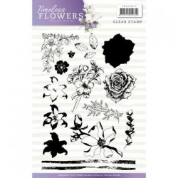 (PMCS10027)Clearstamp - Precious Marieke - Timeless Flowers