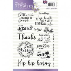 (PMCS10029)Textstamp - Precious Marieke - Timeless Flowers - Tekst English