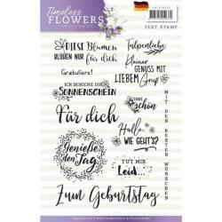 (PMCS10030)Textstamp - Precious Marieke - Timeless Flowers - Tekst Duits