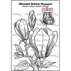 (CLRS02)Crealies Mounted Rubber Stampzz no. 2 Magnolia
