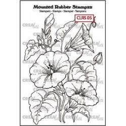 (CLRS05)Crealies Mounted Rubber Stampzz no. 5 Morning glory
