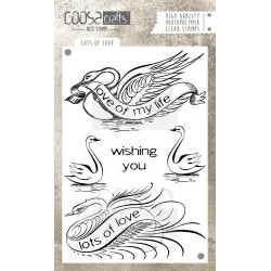 (COC-032)COOSA Crafts clearstamps A6 -Lots of love