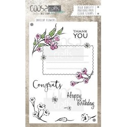 (COC-033)COOSA Crafts clearstamps A6 -Envelope Flowers