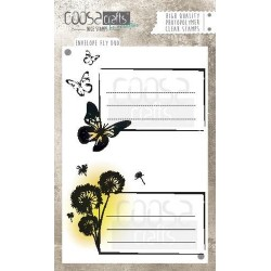 (COC-034)COOSA Crafts clearstamps A6 -Envelope Fly duo