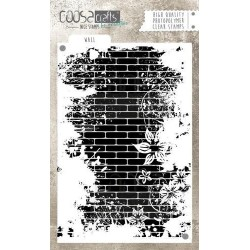 (COC-040)COOSA Crafts clearstamps A6 - Wall