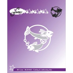 (BLD1068)By Lene Cutting & Embossing Dies The Two Fish