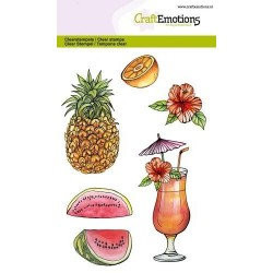 (1283)CraftEmotions clearstamps A6 - fruits, juice