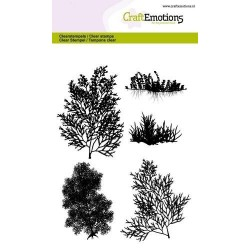 (1289)CraftEmotions clearstamps A6 - seaweed