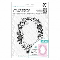 (XCU503822)Xcut Cut & Emboss Folder Rose Border