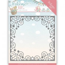 (YCD10135)Dies - Yvonne Creations - Welcome Baby - Star Frame