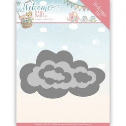 (YCD10137)Dies - Yvonne Creations - Welcome Baby - Nesting Clouds