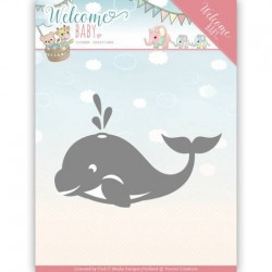 (YCD10139)Dies - Yvonne Creations - Welcome Baby - Little Orca