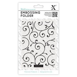 (XCU515126)Xcut A6 Embossing Folder - Delicate Flourishes