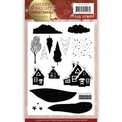 (PMCS10031)Clear Stamp - Precious Marieke - Merry and Bright Christmas - Christmas House