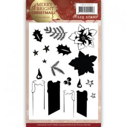 (PMCS10032)Clear Stamp - Precious Marieke - Merry and Bright Christmas - Candle