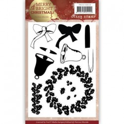 (PMCS10033)Clear Stamp - Precious Marieke - Merry and Bright Christmas - Wreath