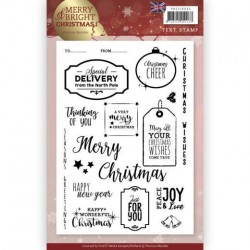 (PMCS10035)Clear Stamp - Precious Marieke - Merry and Bright Christmas - ENG