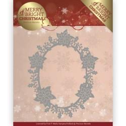 (PM10126)Dies - Precious Marieke - Merry and Bright Christmas - Poinsettia Oval