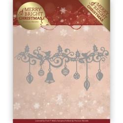 (PM10128)Dies - Precious Marieke - Merry and Bright Christmas - Christmas Garland