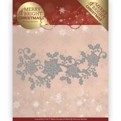 (PM10129)Dies - Precious Marieke - Merry and Bright Christmas - Poinsettia Border