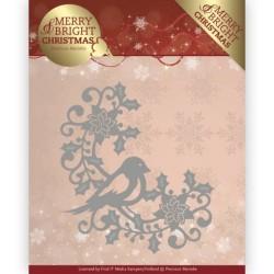 (PM10130)Dies - Precious Marieke - Merry and Bright Christmas - Bird Corner