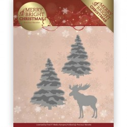 (PM10131)Dies - Precious Marieke - Merry and Bright Christmas - Forest