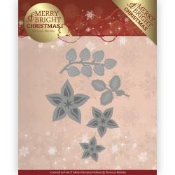 (PM10132)Dies - Precious Marieke - Merry and Bright Christmas - Christmas Florals