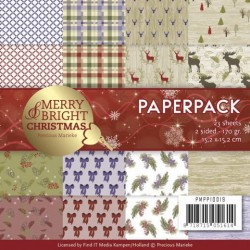 (PMPP10019)Paperpack - Precious Marieke - Merry and Bright Christmas
