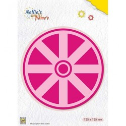 (MFD117)Nellie's Multi Frame Dies Kaleidoscope: Wheel
