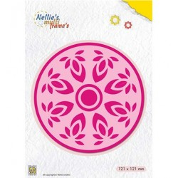 (MFD118)Nellie's Multi Frame Dies Kaleidoscope: Flower-circle