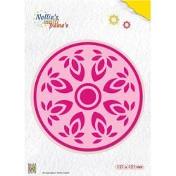 (MFD118)Nellie's Multi Frame Dies Kaleidoscope: Flower-circle